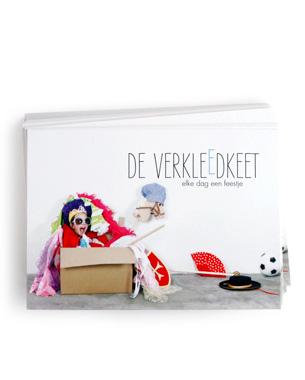 Vormconcept & Uitwerking Het nieuw te starten bedrijf de VerkleedKeet had een eigen identiteit, website & promotiemateriaal nodig... kijk verder →